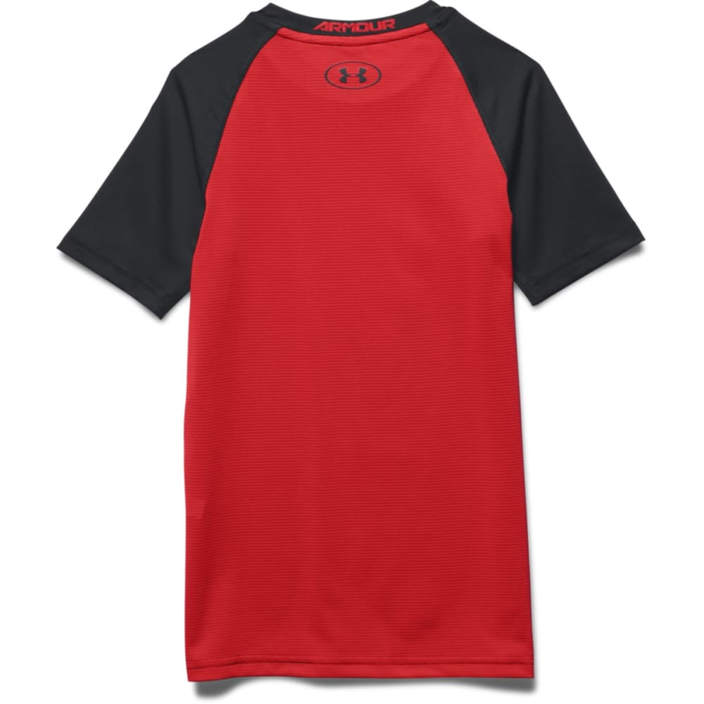 UNDER ARMOUR Boys' HeatGear® Digi Short-Sleeve Tee - BLACK/ RED-001