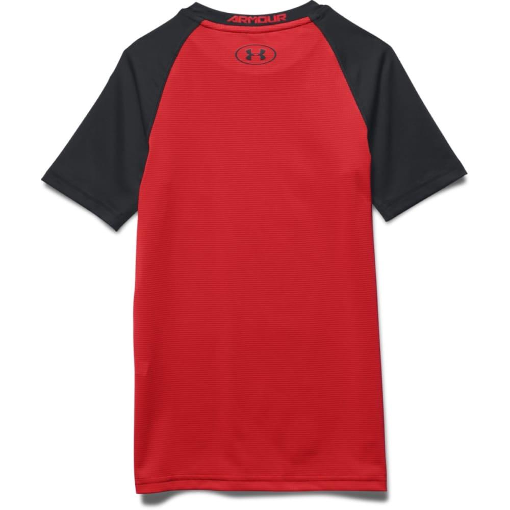 UNDER ARMOUR Boys' HeatGear® Digi Short-Sleeve Tee - BLACK/ RED-001