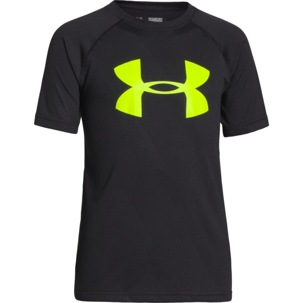UNDER ARMOUR Boys' Big Logo Embossed Short-Sleeve Tee - BLACK