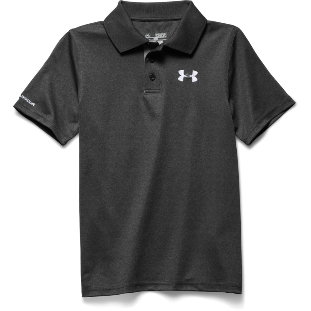 Under Armour Boys UA Matchplay Polo Shirt - CARBON HEATHER-090