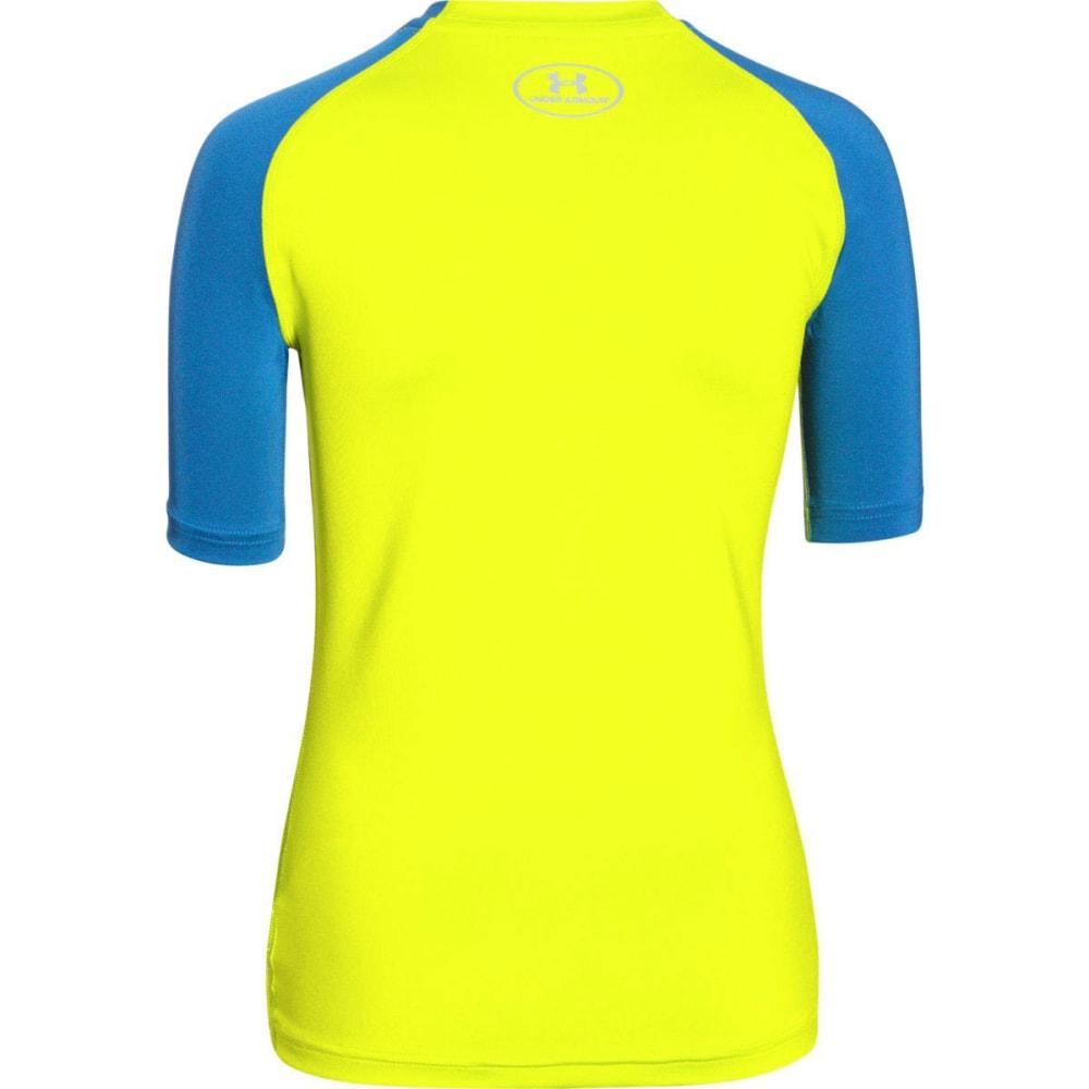 UNDER ARMOUR Boys' HeatGear® Armour UPF 50 Short-Sleeve T-Shirt - VELOCITY/B