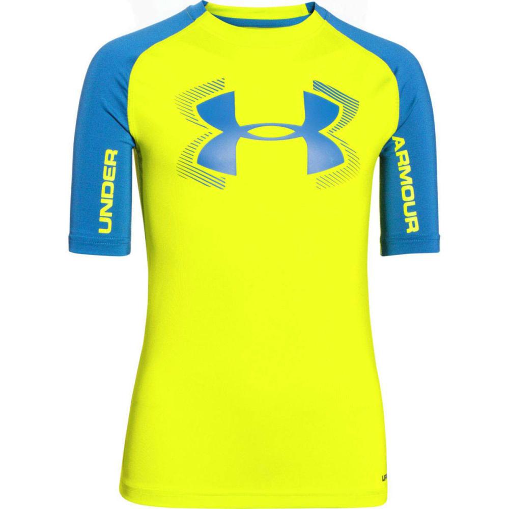 UNDER ARMOUR Boys' HeatGear Armour UPF 50 Short-Sleeve T-Shirt - VELOCITY/B