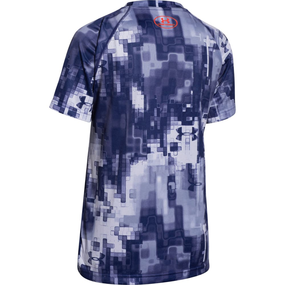 Under Armour Boy's UA Tech Twist Big Logo Tee - BLUE NIGHT
