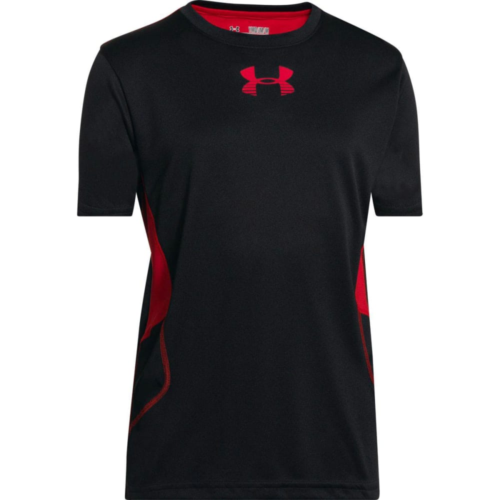 UNDER ARMOUR Boys' Tech™ Patterned T-Shirt - BLACK/RED