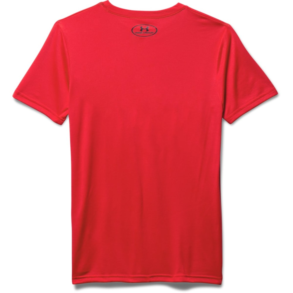 UNDER ARMOUR Boys' Rising Logo Short-Sleeve Tee - RED-600