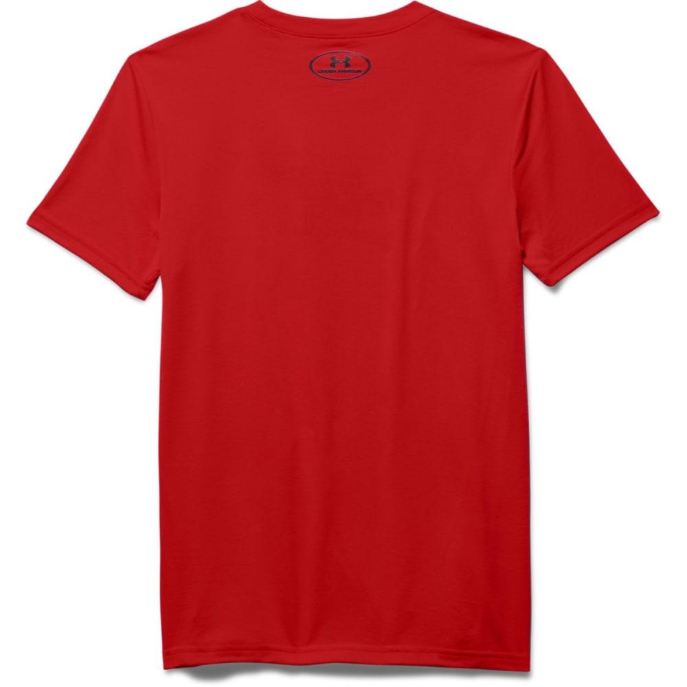 UNDER ARMOUR Boys' Dual Logo Short-Sleeve Tee - RED-600