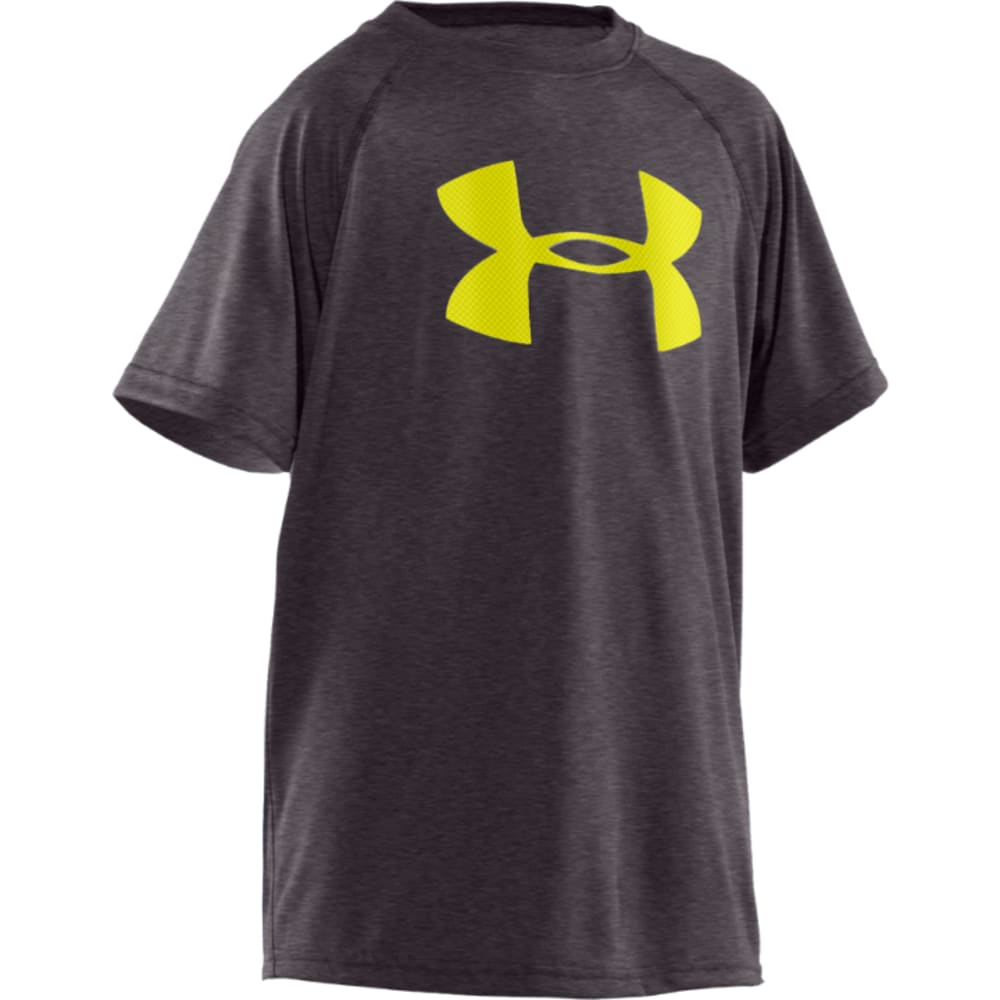 UNDER ARMOUR Boys' UA Tech Big Logo Tee - CHARCOAL