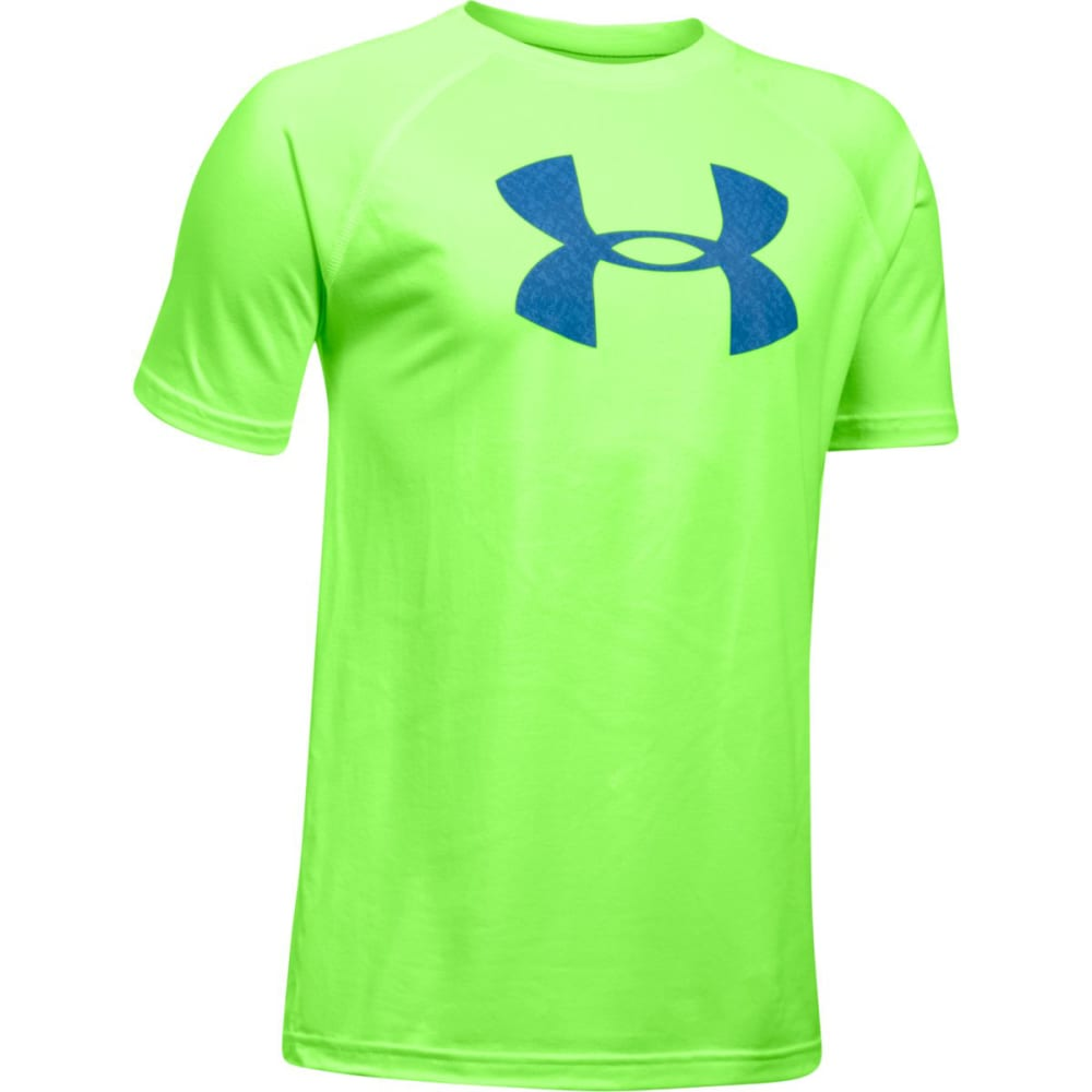 UNDER ARMOUR Boys' UA Tech Big Logo Tee - 752-QUIRKYLIME/CRUZB