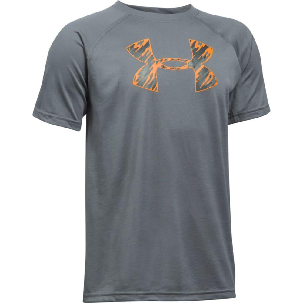 UNDER ARMOUR Boys' UA Tech Big Logo Tee - 127 GRAPH/RADIATE
