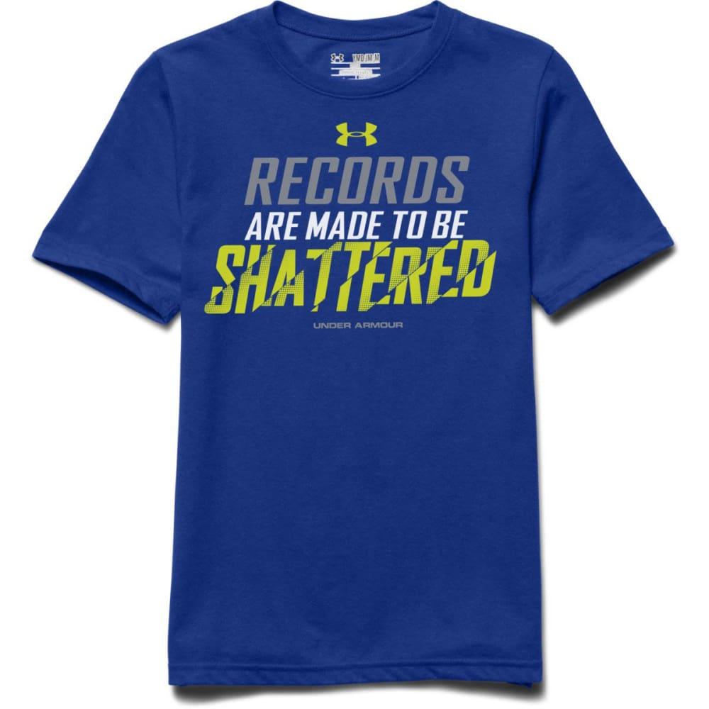 UNDER ARMOUR Boys' Records Shattered T-Shirt - ROYAL/STEEL/HI-VIS Y