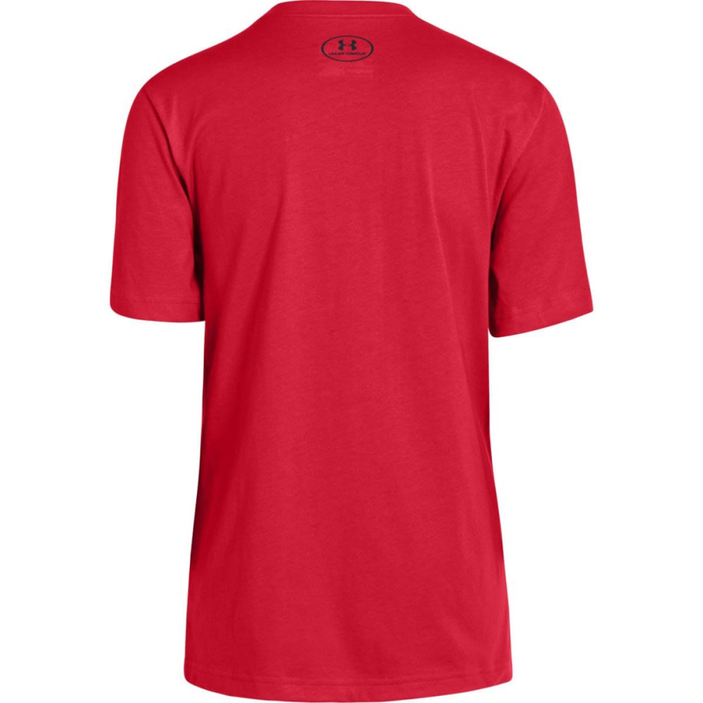 UNDER ARMOUR Boys' Here to Win T-Shirt - RISK RED/WHITE/BLACK