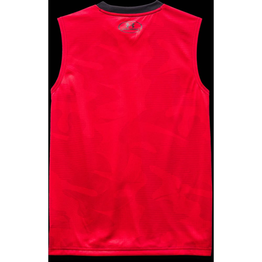 UNDER ARMOUR Boys' Tech Big Logo Sleeveless T - BLACK/NEPTUNE