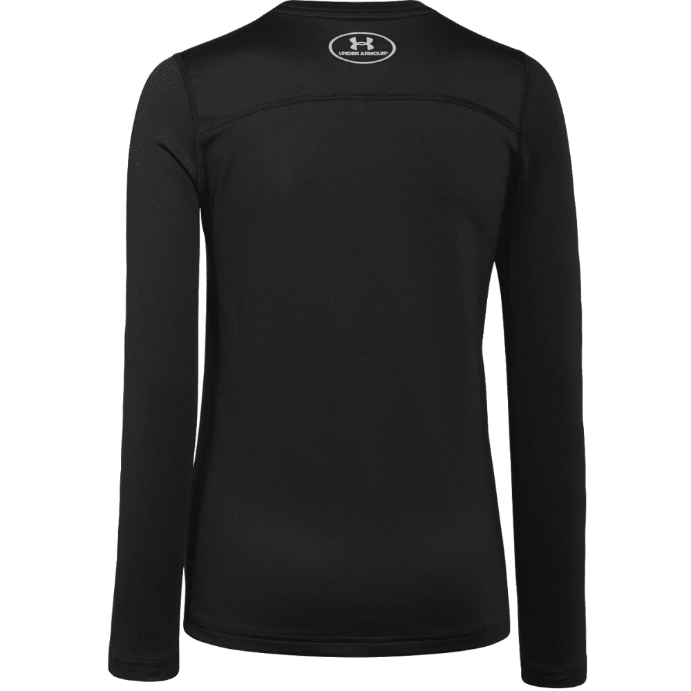Under Armour Boys UA Coldgear Armour Fitted Crew - BLACK