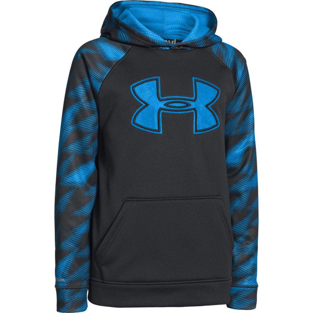 UNDER ARMOUR Boys' Storm Armour Fleece Big Logo Hoodie - BLUE