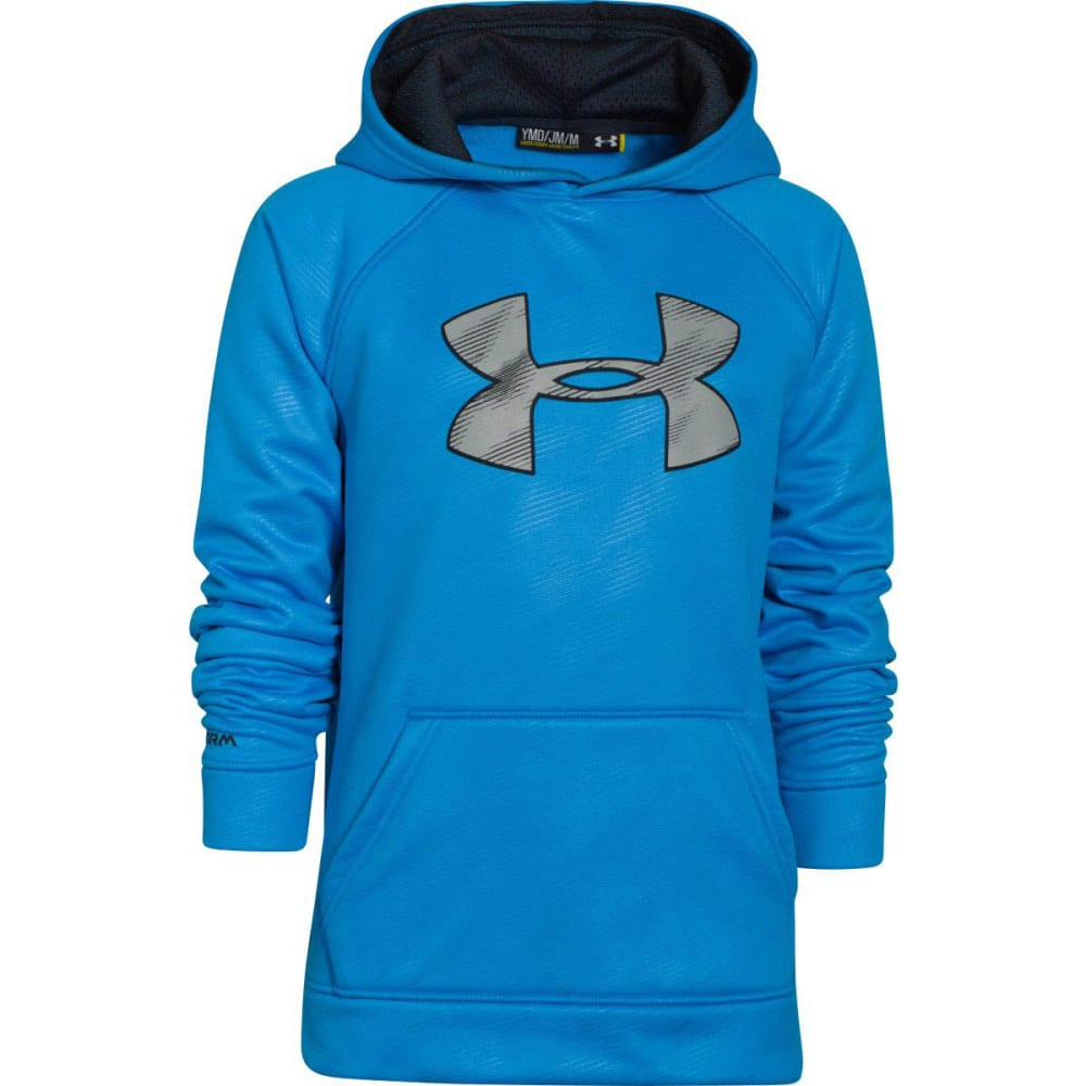 UNDER ARMOUR Boys' Storm Armour Fleece Big Logo Hoodie - BLUE