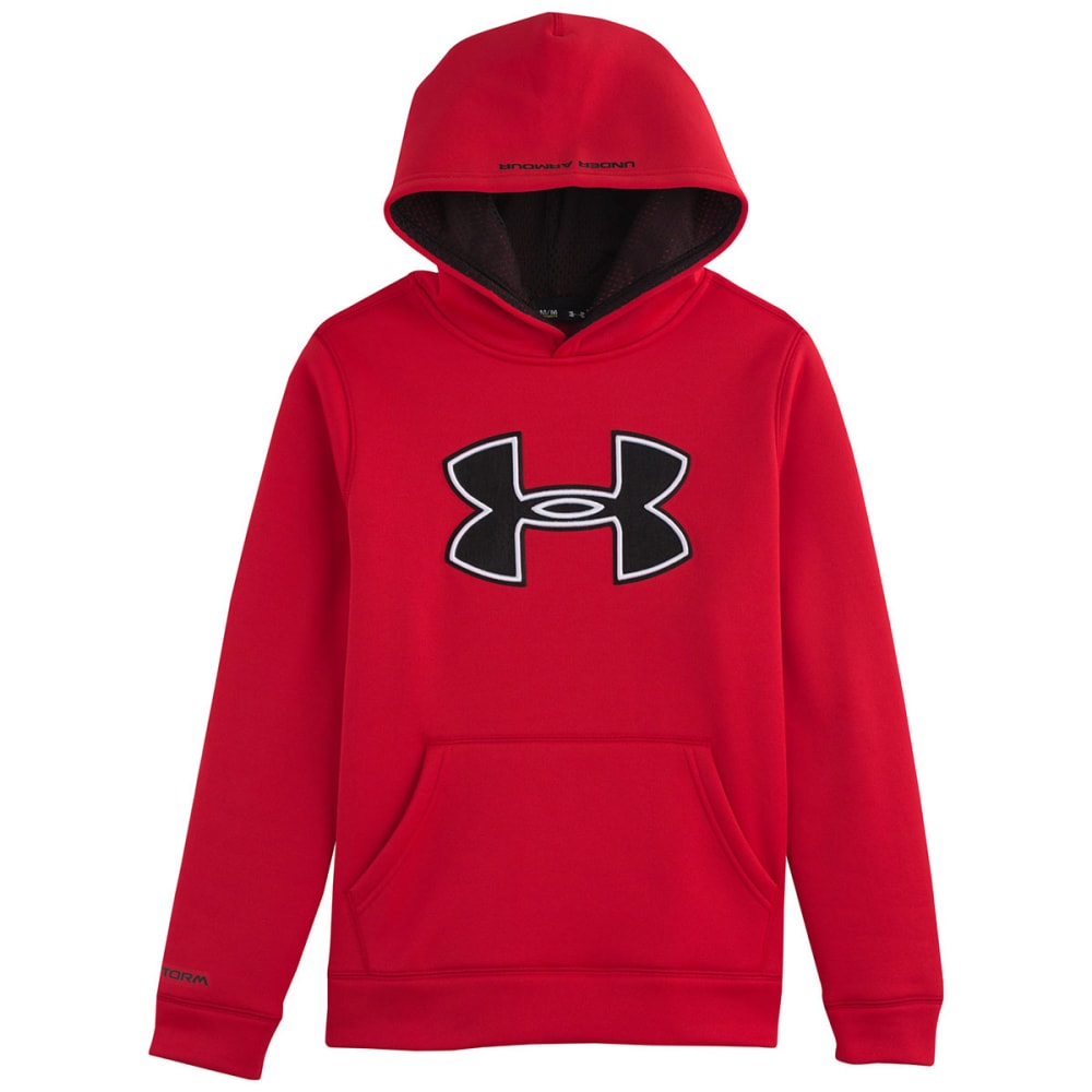 UNDER ARMOUR Boys' Fleece Big Logo Hoodie - RED