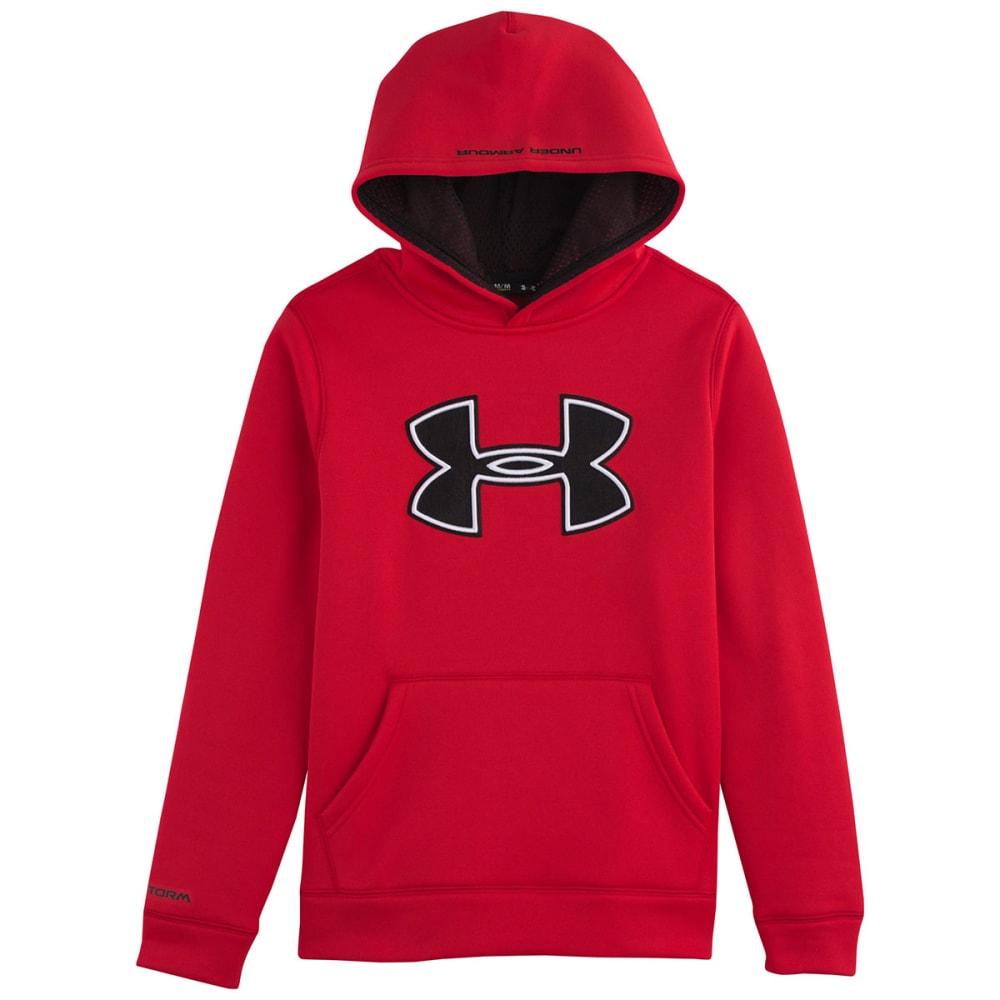 UNDER ARMOUR Boys' Fleece Big Logo Hoodie - RED