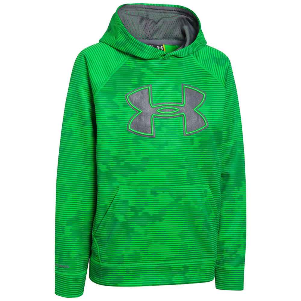 UNDER ARMOUR Boys' Big Logo Hoodie - LIME