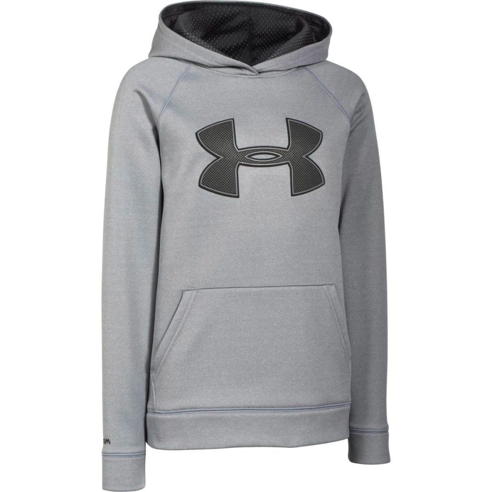 UNDER ARMOUR Boys' Storm Big Logo Fleece Hoodie - GREY HEATHER
