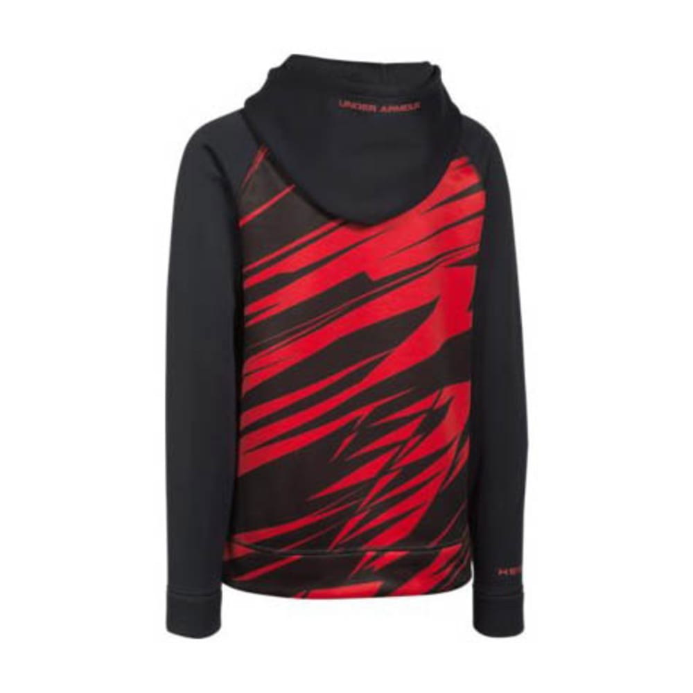 Under Armour Boy's UA Storm Armour Printed Big Logo Hoody - BLACK/RED