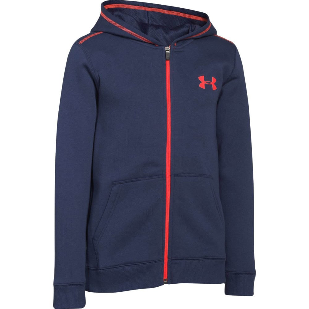 UNDER ARMOUR Boy's Rival Fleece Full Zip Hoodie - HORIZON BLUE