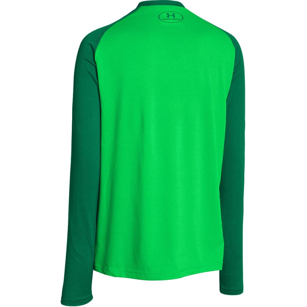 UNDER ARMOUR Boys' Big Logo Tech T-Shirt, L/S - GREEN ENERGY/BLADE