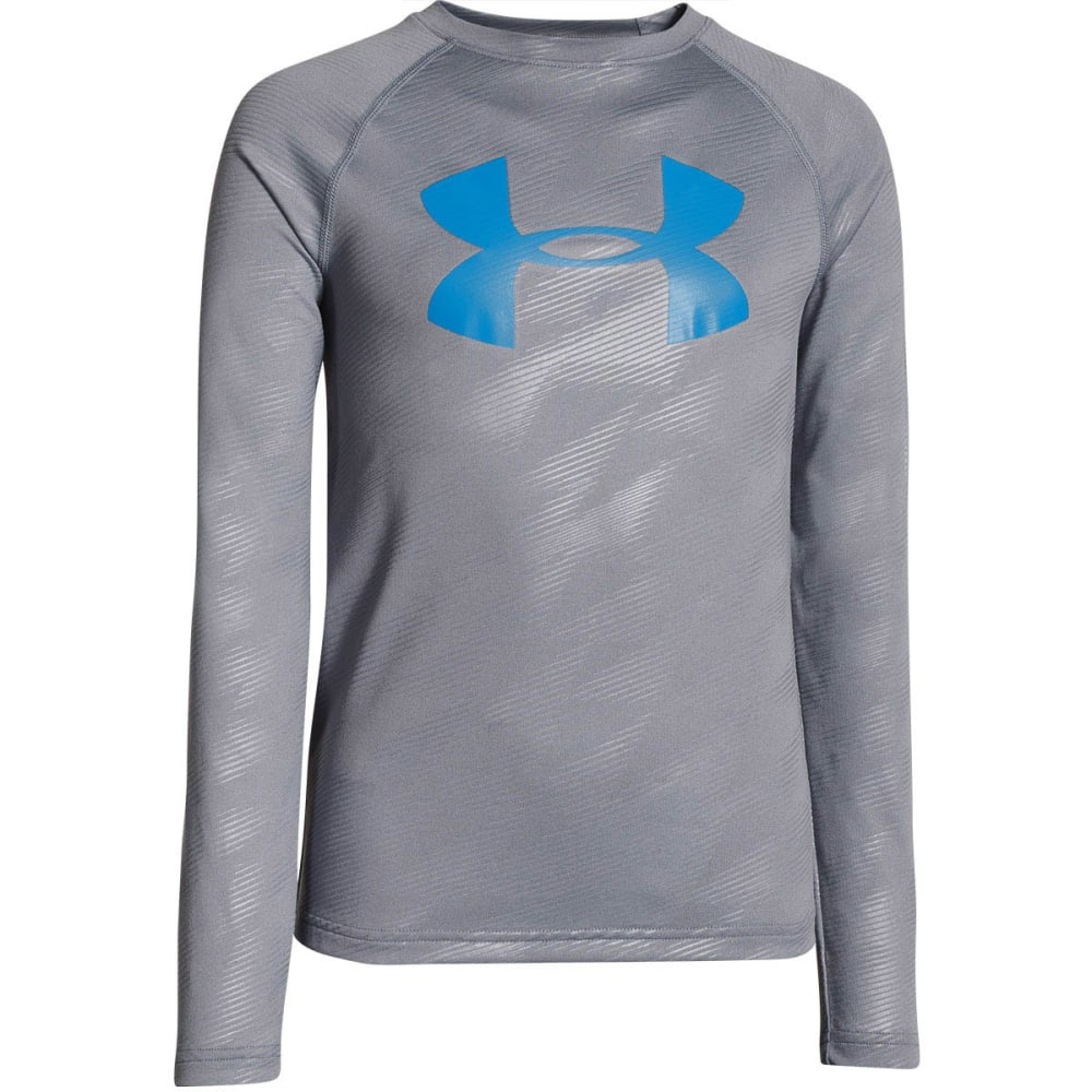 Under Armour Boys Ua Tech Printed Ls Tee - Black, L