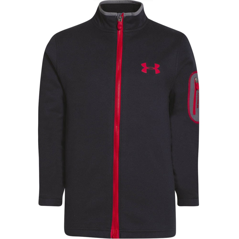 UNDER ARMOUR Boys' ColdGear® Extreme Light MagZip Jacket - BLACK/RED