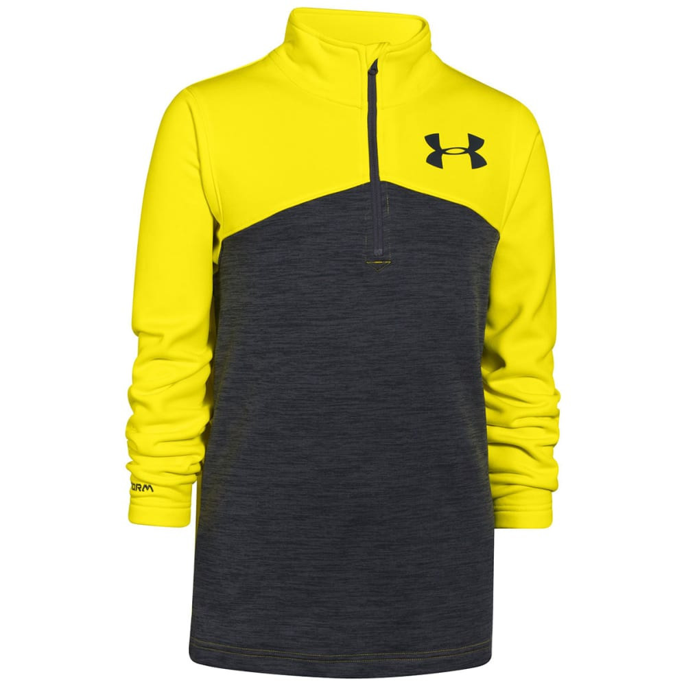 UNDER ARMOUR Boys' Gamut ¼ Zip - GREY/YELLOW