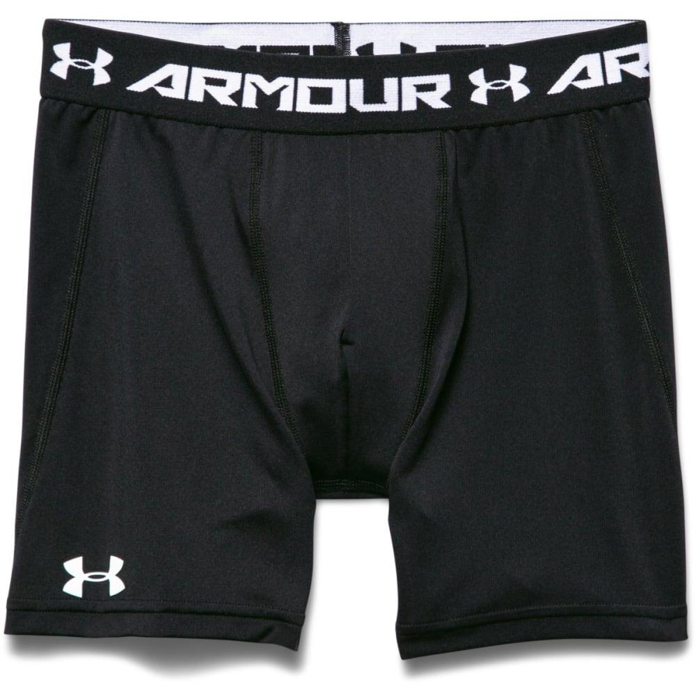 UNDER ARMOUR Boys' HeatGear Armour Fitted Shorts - BLACK-001
