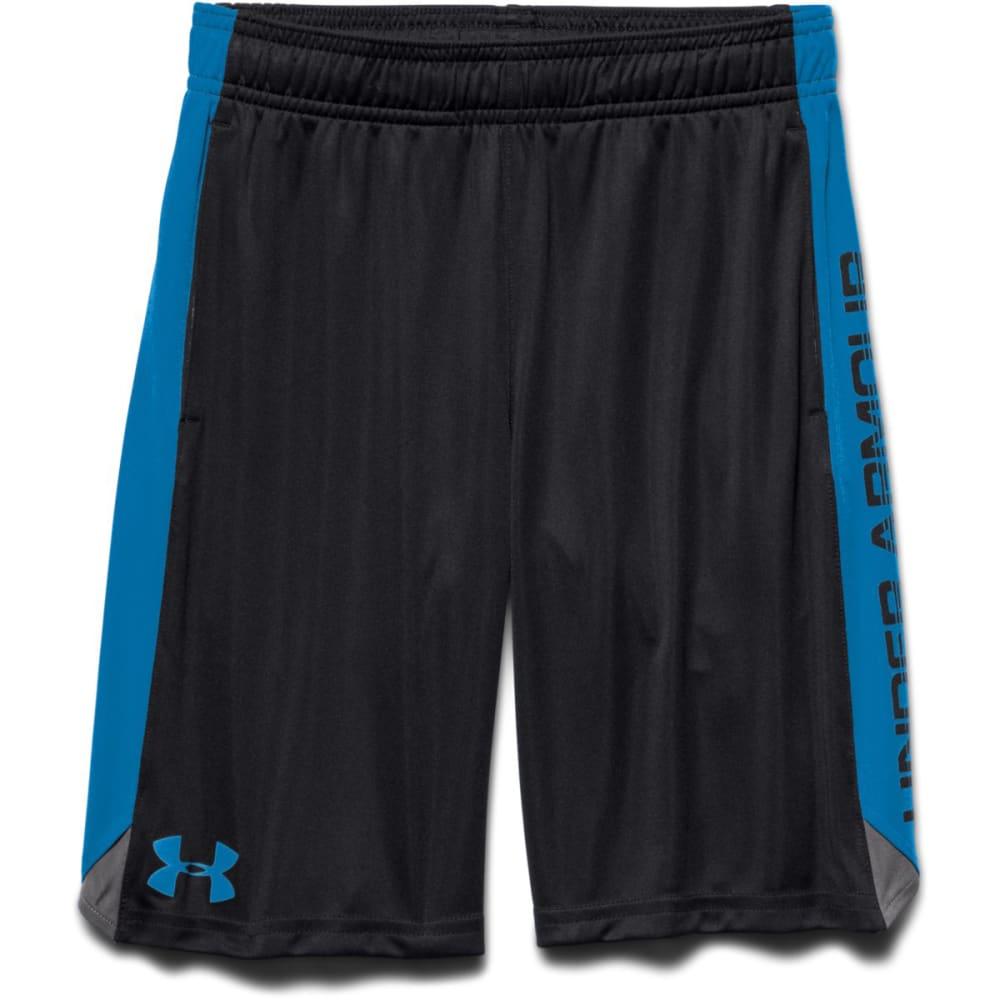 UNDER ARMOUR Boys' Eliminator Shorts - BLACK/GREEN-002