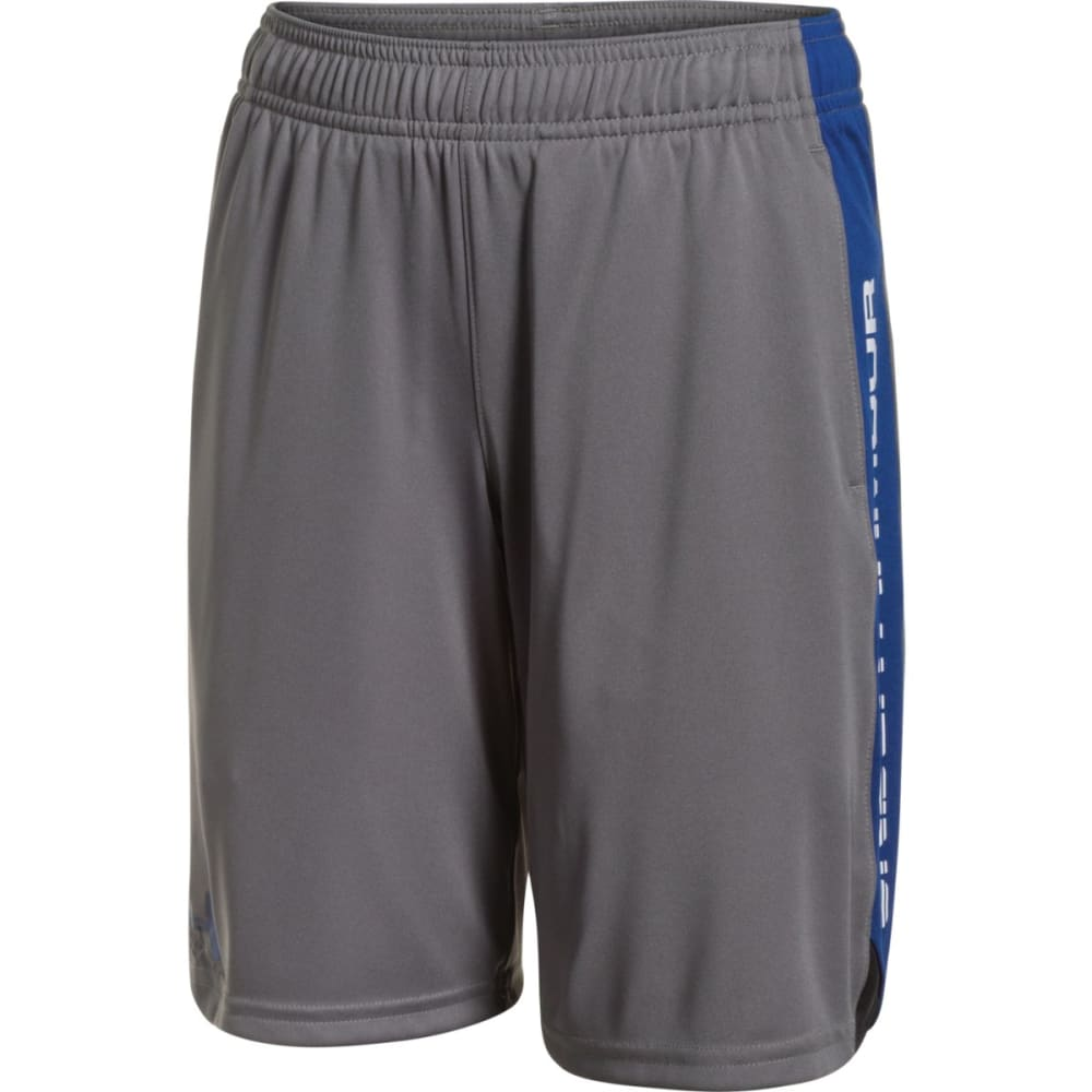UNDER ARMOUR Boys' Eliminator Shorts - GRAPHITE/ROYAL-040