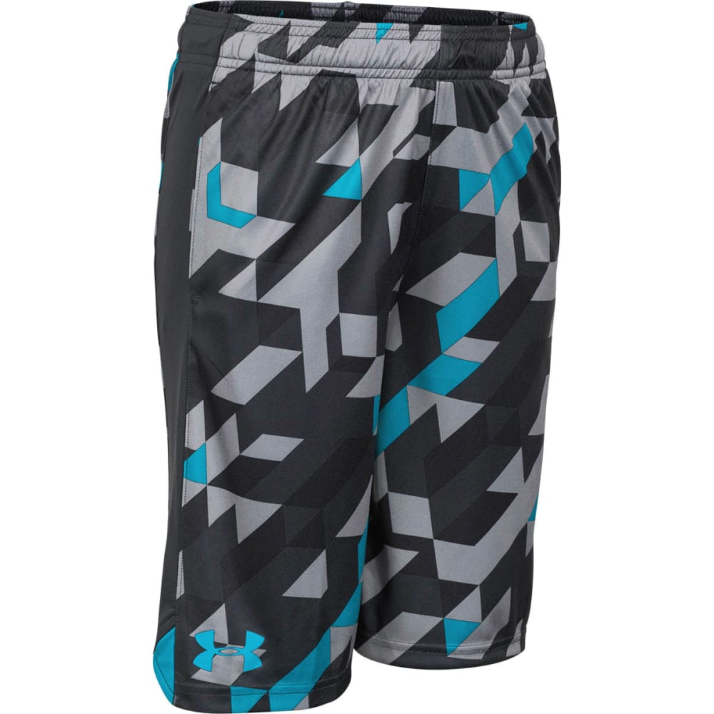 Under Armour Boy's Eliminator Printed Short - ANTHRACITE/PACIFIC