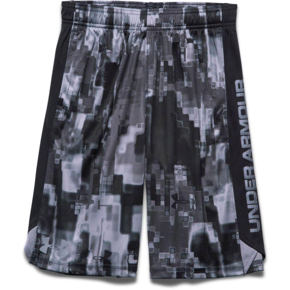 Under Armour Boy's Eliminator Printed Short - BLACK/STEEL