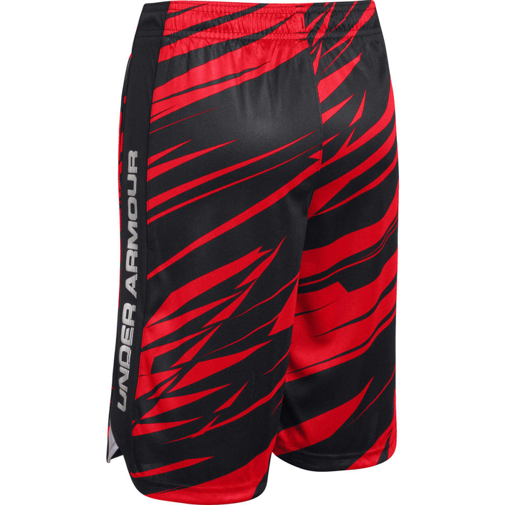 Under Armour Boy's Eliminator Printed Short - RISK RED/WHITE/BLACK