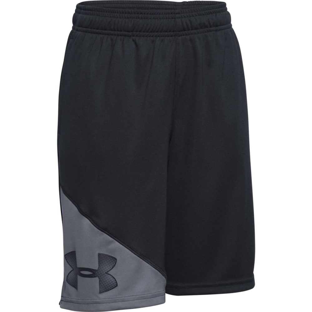 UNDER ARMOUR Boys' Prototype Shorts - BLACK/GRAPHITE-001