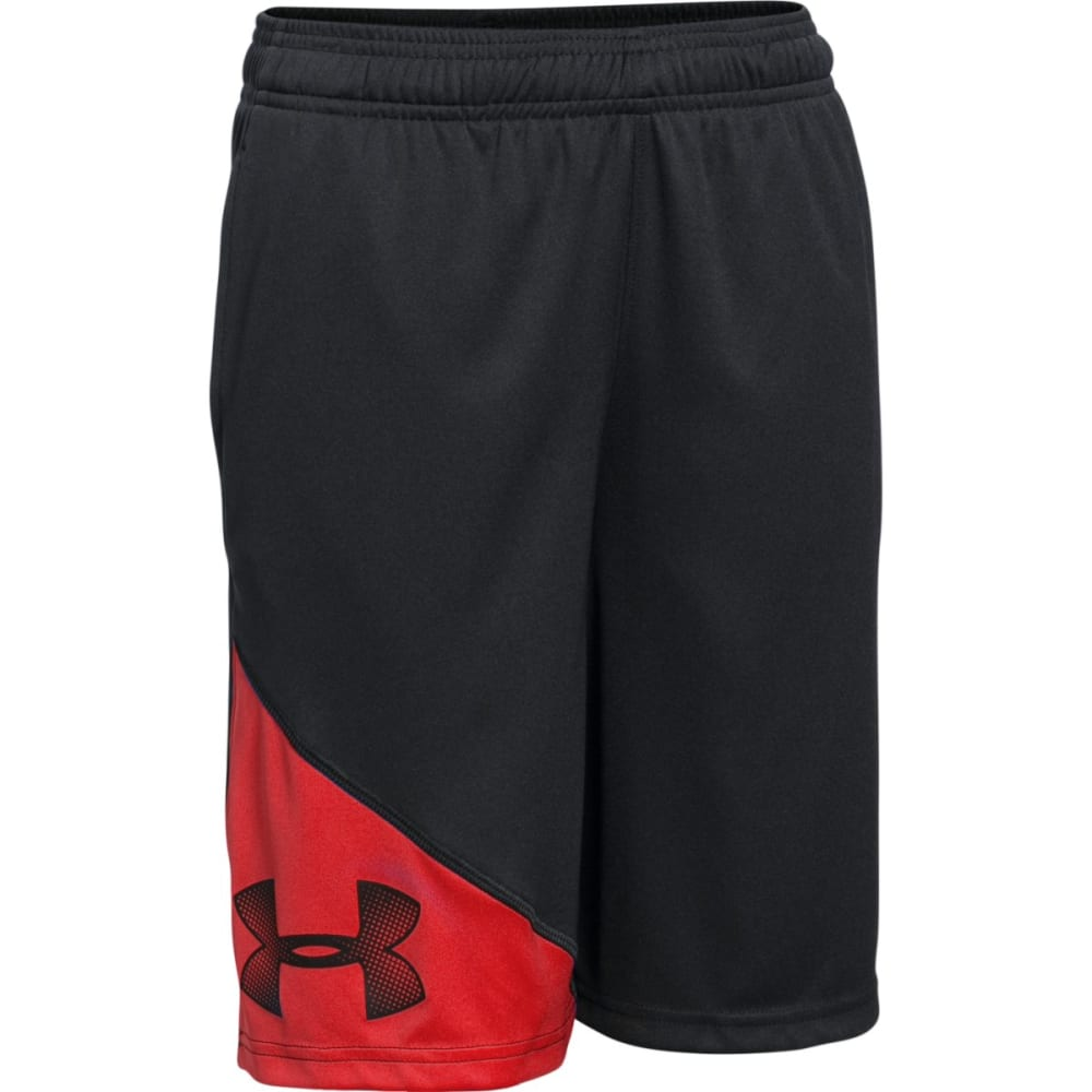UNDER ARMOUR Boys' Prototype Shorts - BLACK/RED-007