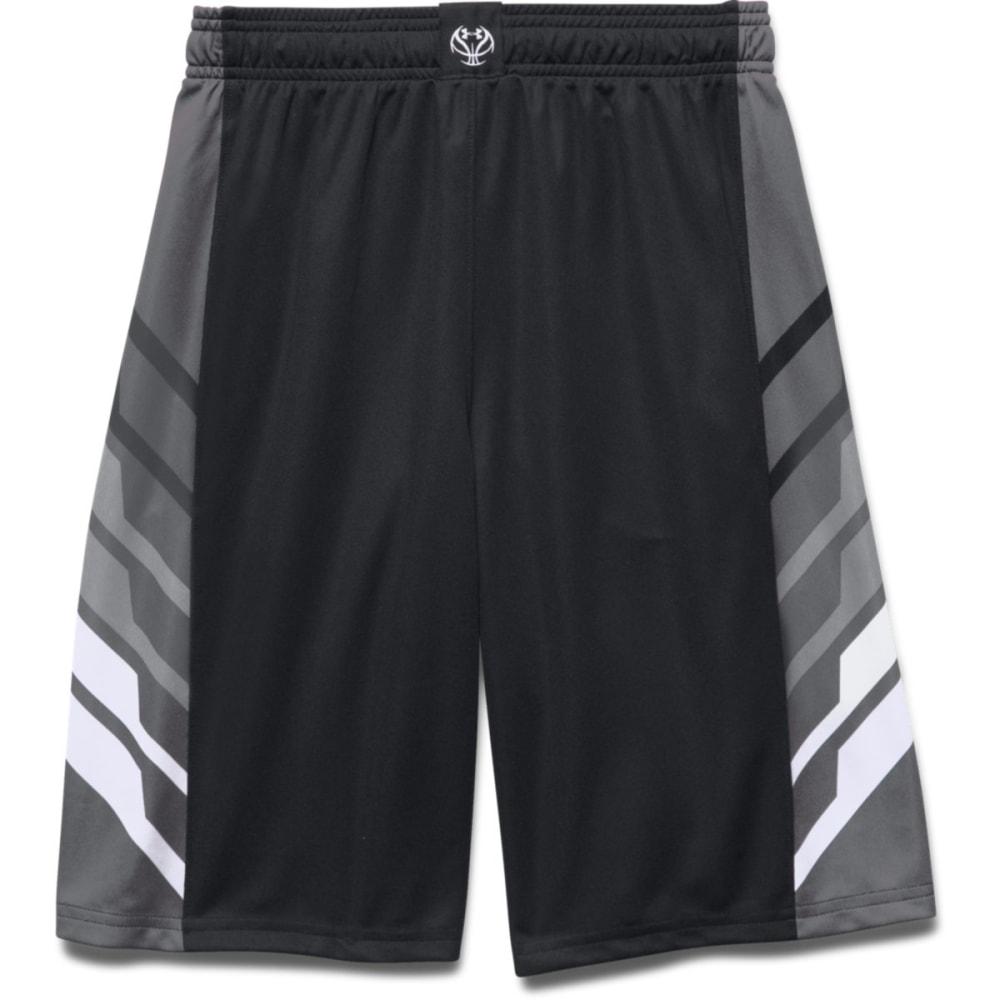 UNDER ARMOUR Boys' Select Basketball Shorts - BLACK/GRAPH/WHT-001