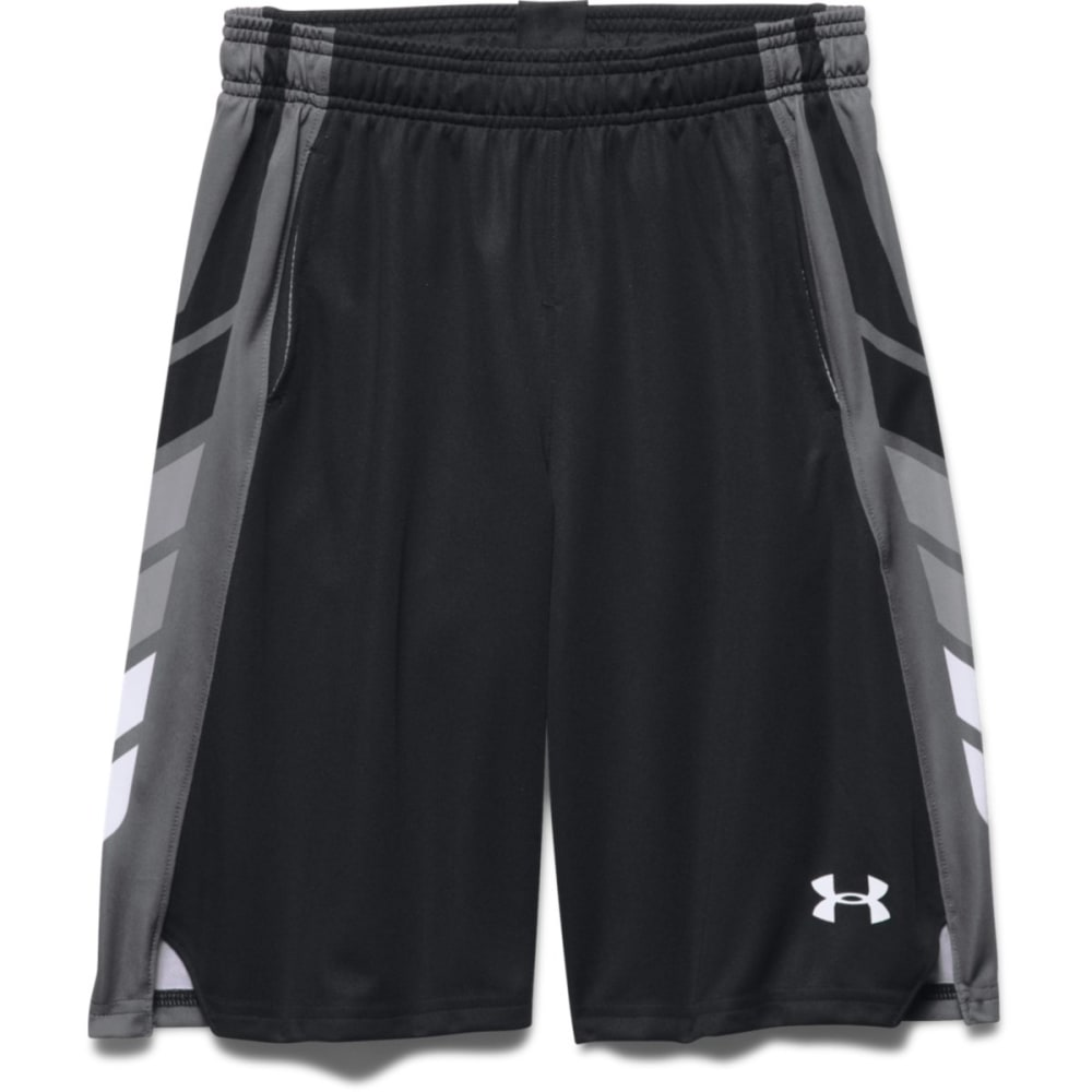 UNDER ARMOUR Boys' Select Basketball Shorts - BLACK/GRAPH/WHT-001