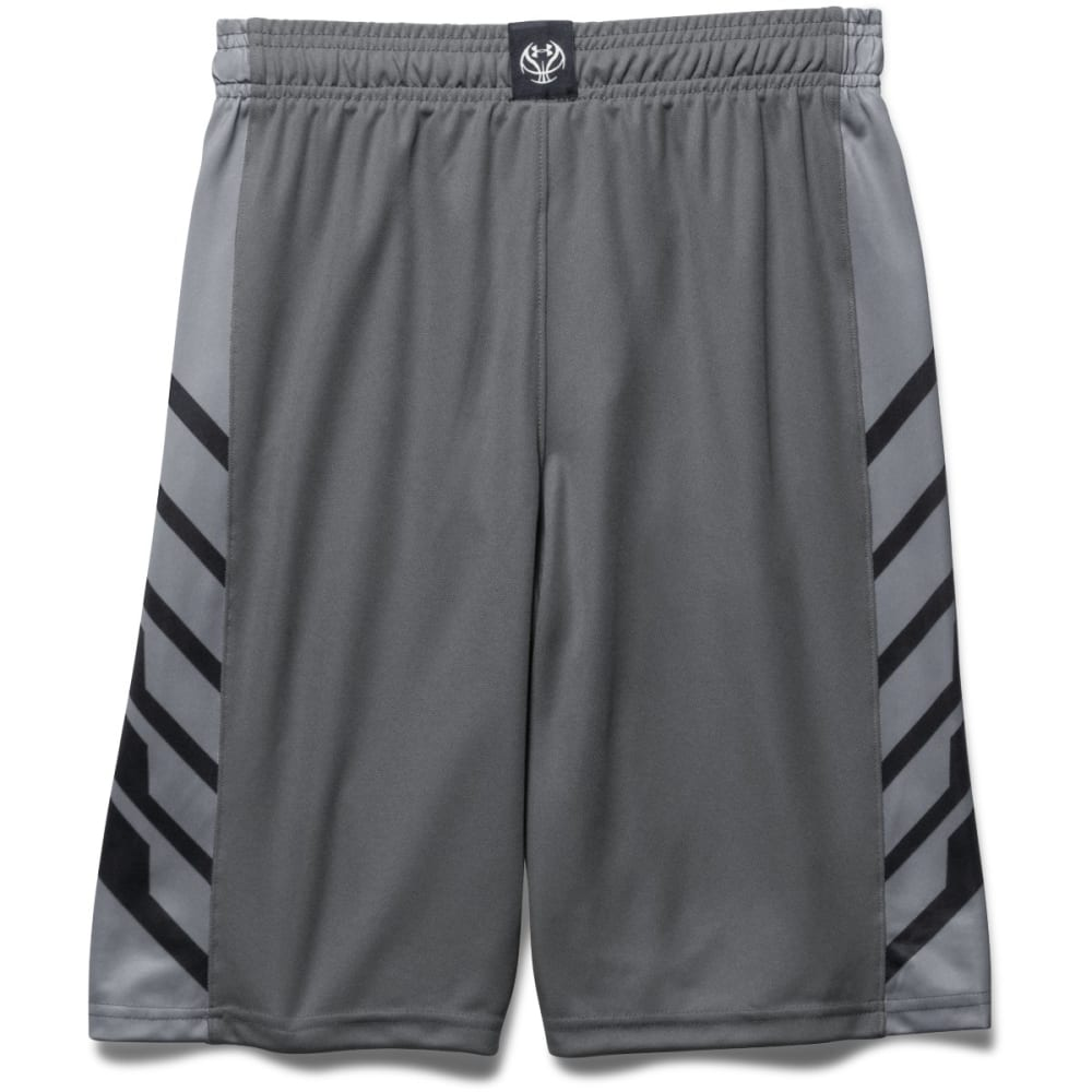 UNDER ARMOUR Boys' Select Basketball Shorts - GRAPH/STEEL-042