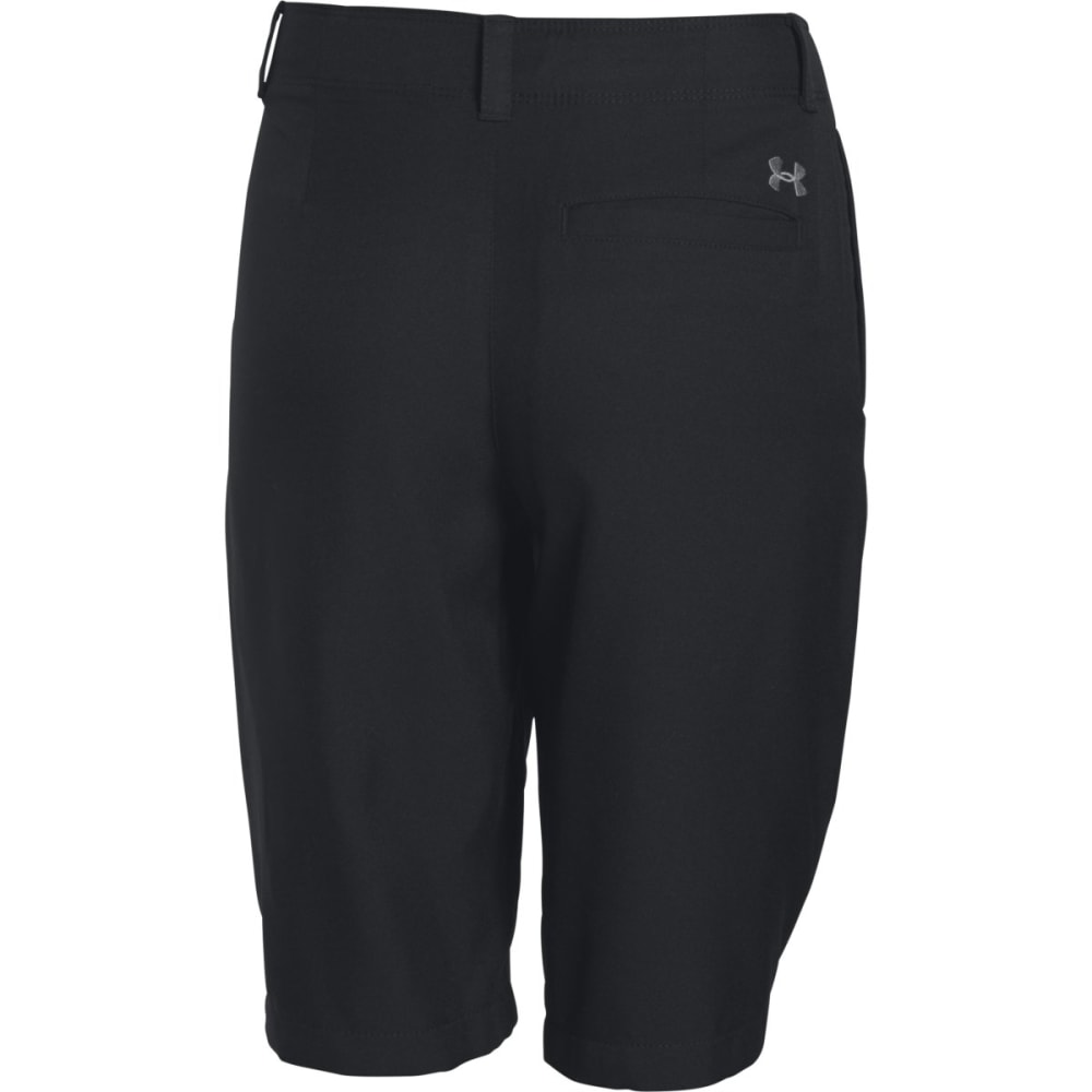 UNDER ARMOUR Boys' Medal Play Golf Shorts - BLACK-001