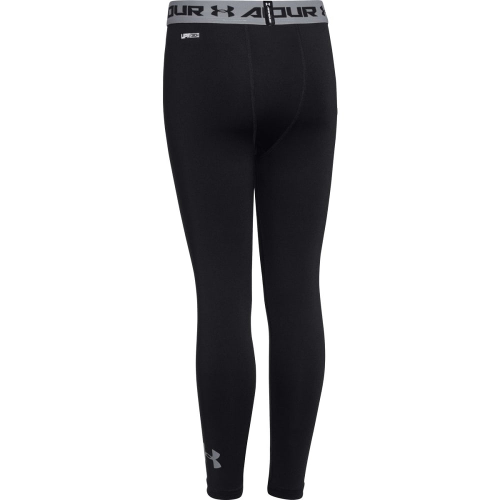 UNDER ARMOUR Boys™ HeatGear Fitted Leggings - BLACK-001