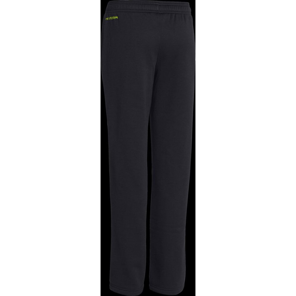UNDER ARMOUR Boys' Storm Armour® Fleece Script Pants - BLACK