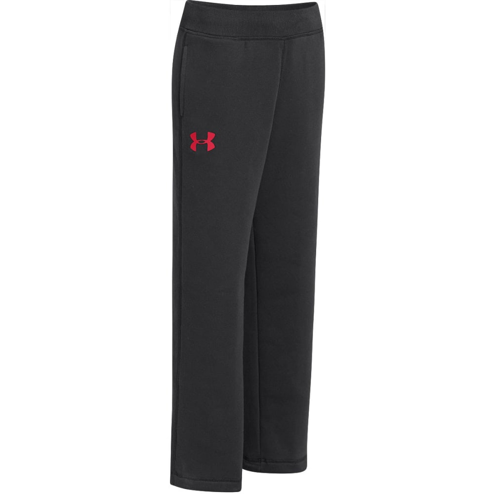 UNDER ARMOUR Boys' Rival Pants - BLACK/RED