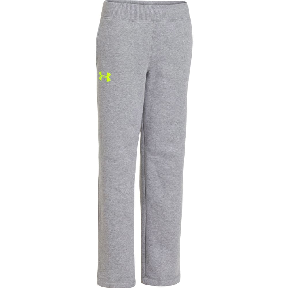 UNDER ARMOUR Boys' Rival Pants - TRUE GREY HEATHER/HI