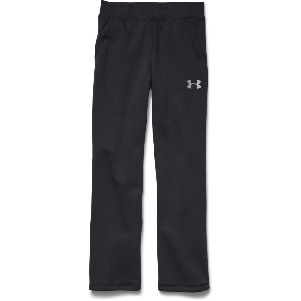 UNDER ARMOUR Boy's Rival Fleece Pants - BLACK/STEEL