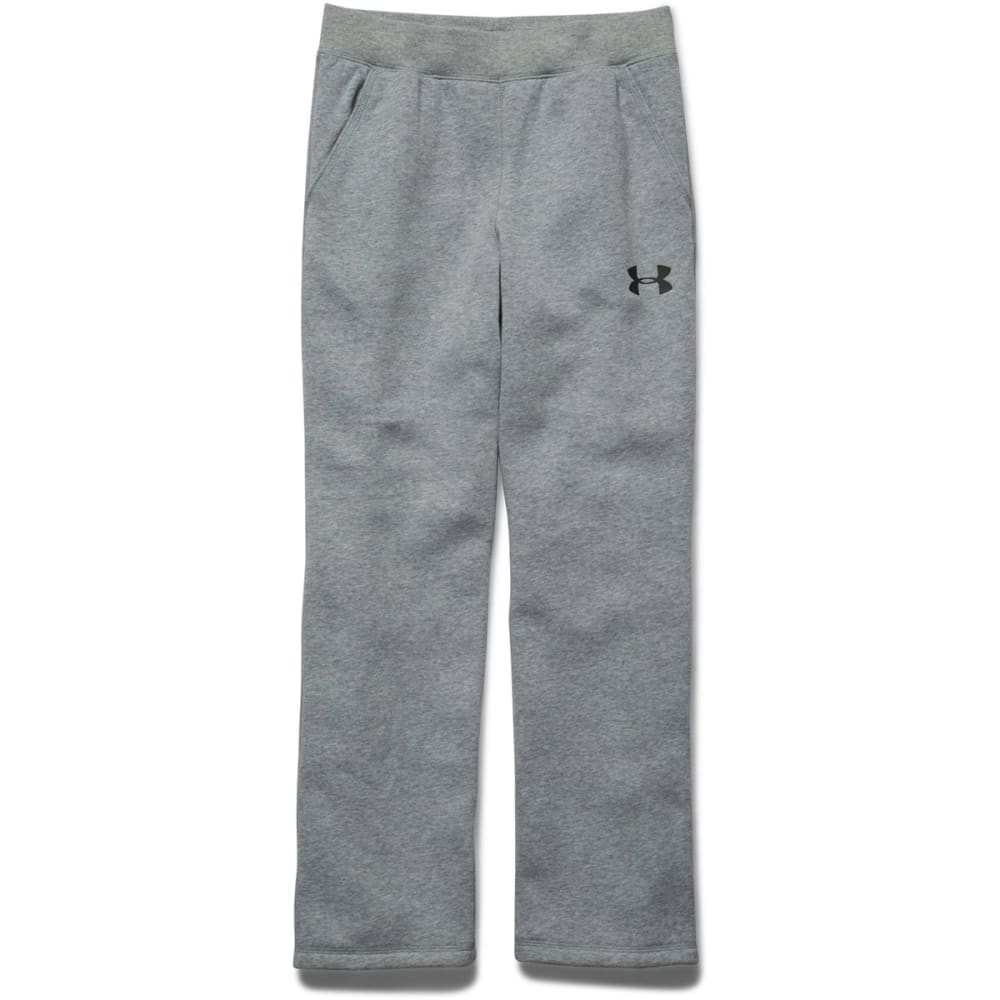UNDER ARMOUR Boy's Rival Fleece Pants - TRUE GREY HEATHER/BL