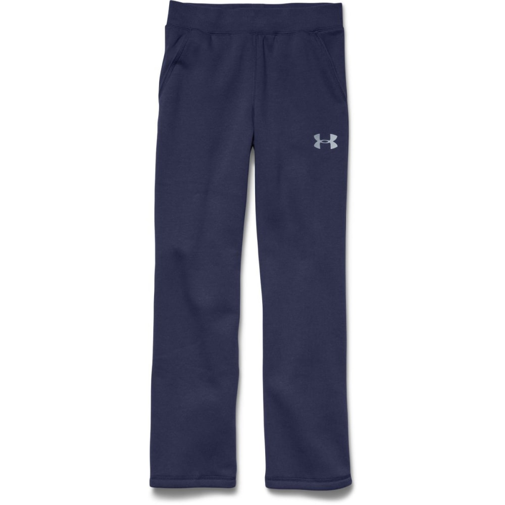 UNDER ARMOUR Boy's Rival Fleece Pants - BLUE KNIGHT/STEEL