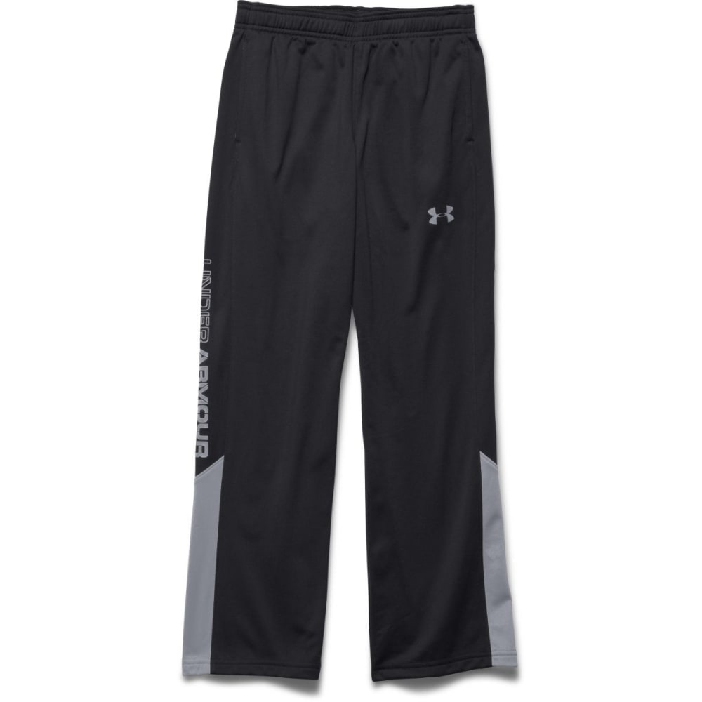 UNDER ARMOUR Boy's Brawler Warm-Up Pants - BLACK/STEEL-001