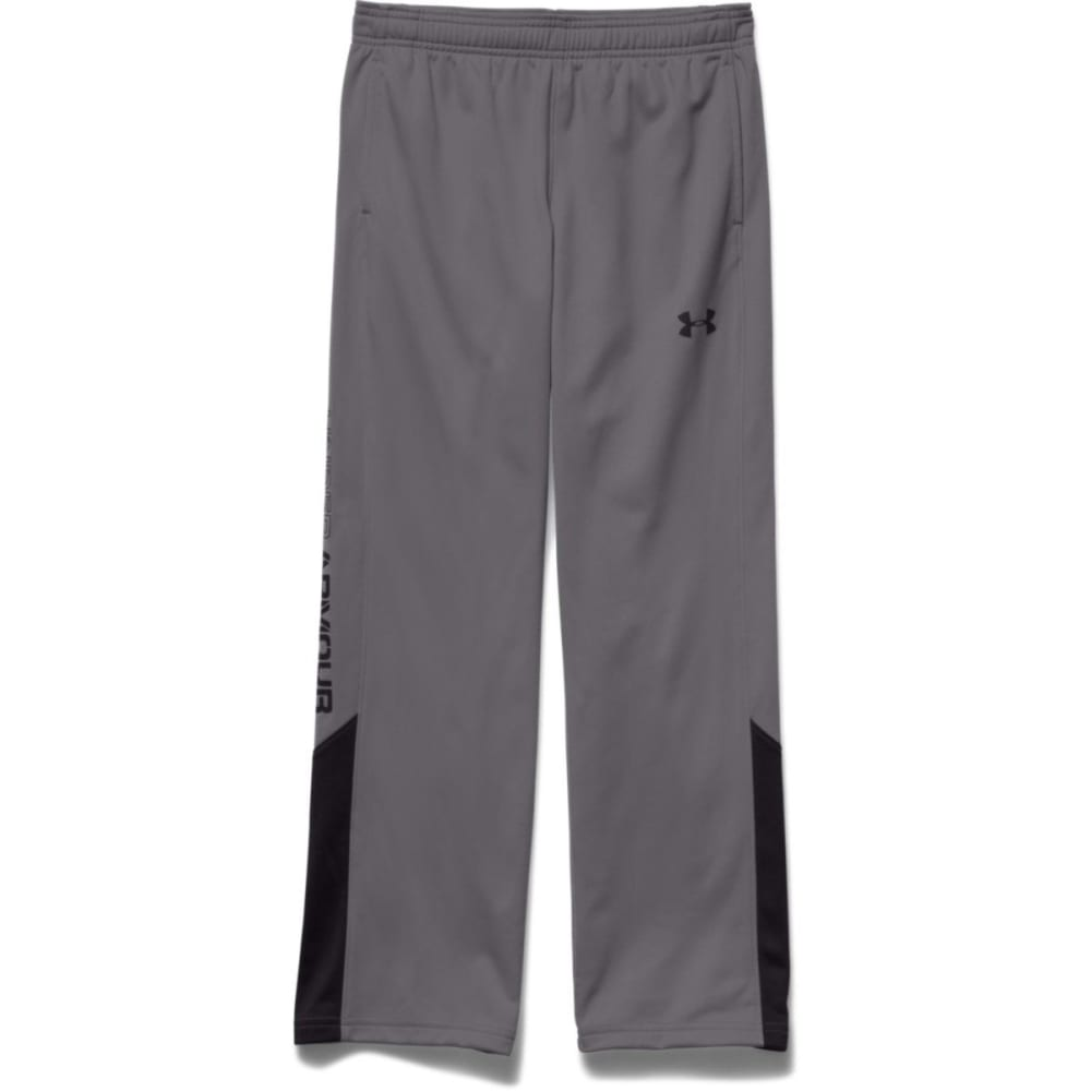 UNDER ARMOUR Boy's Brawler Warm-Up Pants - GRAPHITE/BLACK-040